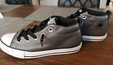 Converse Boys Grey PC Leather Shoes UK 2.5 / EUR 35 New Without Box