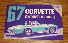 1967 Chevrolet Corvette Owners Operators Manual 67 Chevy