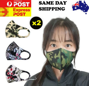 2PCS Premium Face Mask Made In KOREA Mouth Mask Washable Reusable Breathable