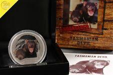 Tuvalu Tasmanian Devil rusell diablo 2013 1 onza Oz plata pp