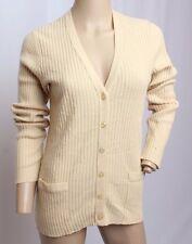 VTG 50's 60's Pringle Scotland 100% Cashmere Creme Cardigan Sweater 40
