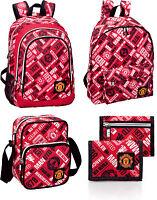 Manchester United Official Club Backpack Rucksack Wallet Shoulder School Bag NEW