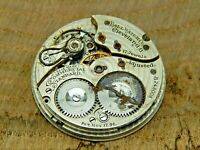 Antique Pocket watch movement Ball Commercial Standard 12S 17J Waltham @ 1910