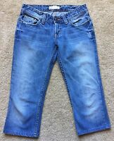 "BKE BUCKLE Women's Medium Wash Crop Capri Jeans Size 26 (waist 28"")"