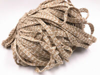 10mm 5/100M Natural Jute Hessian sequin Burlap ribbon Rustic Weddings decoration