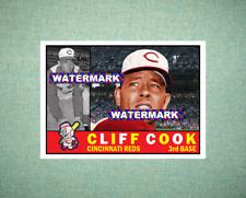 Cliff Cook Cincinnati Reds 1960 Style Custom Art Card