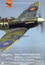 Dutch Decals 1/72 & 1/48 DUTCH INDIES PRESENTATION SPITFIRES & SEAFIRES