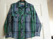 Marks and spencer long sleeve checked collared shirt age 9 100% cotton Excellent