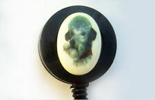 POODLE/DOG Retractable Reel ID Card Badge Holder/Key Chain/Security Ring