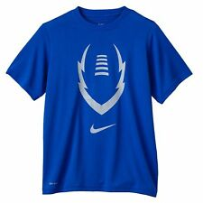 NWT NEW Nike Royal Blue Football Dri-FIT Short Sleeve Tee T-Shirt Boys Small S