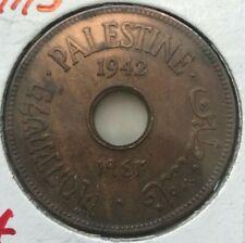 1942 Palestine 10 Mils - Copper Bronze