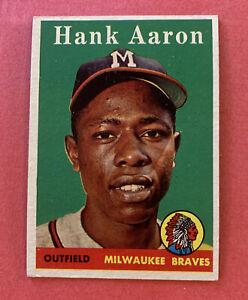 1958 TOPPS HANK AARON #30  Looks EX/NM PSA READY Mid Grade++ Original/Unaltered