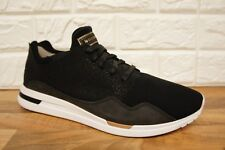 8111edc312fe4 Le COQ Sportif LCS R X Pure Fine Mens Size 10 UK Black Grey Casual Trainers  BNWB