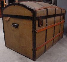 Antik Reisetruhe Überseekoffer Reise Koffer Buckeltruhe Reisekoffer Truhe Shabby