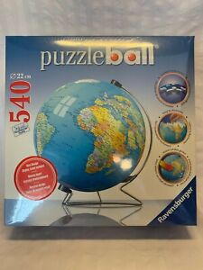 Ravensburger 3D Puzzle Ball - Earth World Globe 540 Pcs with Stand NEW