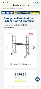 Youngman 5 Way Combination Ladder With Platform
