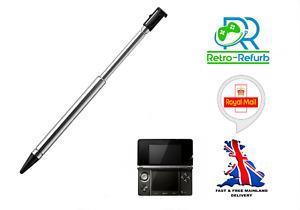 Stylus Pen For Nintendo 3DS Metal Extendable Retractable Black Touch Pen