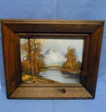 "AUTUMN PAINTING OIL ON CANVAS HAND SIGNED BY ARTIST WOODEN FRAME SZ-14"" ACROSS"