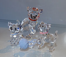 SWAROVSKI  Katzenfamilie  Mother Cat Kitten Standing & Sitting  TOP ZUSTAND OVP