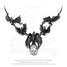 P677 A MURDER OF CROWS RAVEN NECKLACE BY ALCHEMY GOTHIC OF ENGLAND