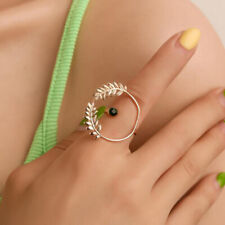Fashion  Women Girls Open Leaf Rings Gold Ring Wedding Party Jewelry Gifts 6A