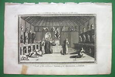 JAPAN Inside Celebrated Pagoda of Monkies - 230 yrs Old Original Engraving