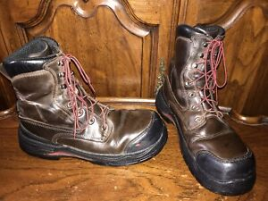 Red Wing King Toe Brown Leather Puncture/Oil/Slip Resistant Boots Size 9.5D 3552
