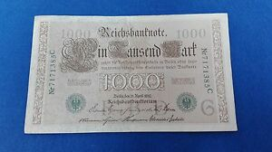 Banknotes 1000 Marcos Germans 1910. Without Uncirculated