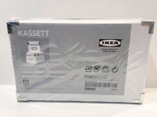 "IKEA Kassett Storage White Boxes Metal Corners Set Of 2, 10 1/4 x 6 1/4 x 6"""