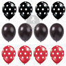 "12"" Red  Black Plain & Polka Dot Balloons Mickey Mouse Birthday party balloons"