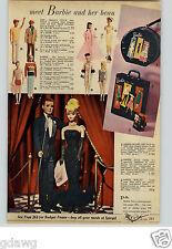 1961 PAPER AD Doll Barbie Ken Case Wallet Pat Ponytail Bride Toddler Hat Box