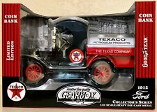 Gearbox 1912 Ford Texaco Oil Tanker Truck Replica Bank Die-Cast GoodYear Tires