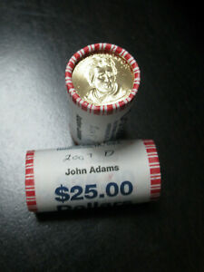 US 2008 Jackson 2010 Lincoln Presidential Dollar SEALED BANK ROLL OF 25 $50 FACE