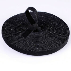 1cm Width *45m Length Double Sided Hook and Loop Tape Fastener Cable Ties Strap