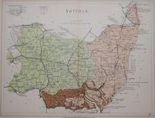 SUFFOLK - STANFORD'S GEOLOGICAL ATLAS, PUBLISHED 1914.