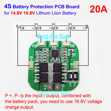 4S 20A 14.8V 16.8V 18650 Li-ion Lithium Battery Charger BMS Protection PCB Board