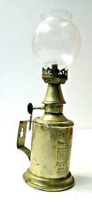 ANCIENNE LAMPE PIGEON VERITABLE A HUILE ORIGINAL AVEC GLOBE VERRE D ORIGINE