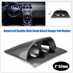 "2"" Car Universal Two holes Gauge Holder Mount Pod Meter Dash Board Gauge Holder"