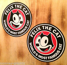 FELIX Cat 2er Set - Oldschool Retro Aufkleber Comic / US Car Rockabilly Hotrod