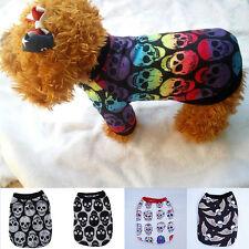 New Summer Cool Puppy Dog Small Dog Cat Pet Clothes Skull Vest T-Shirt Clothes