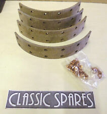 TRIUMPH RENOWN 1950-1954 NEW SET 4 FRONT BRAKE LININGS WITH RIVETS (D27)