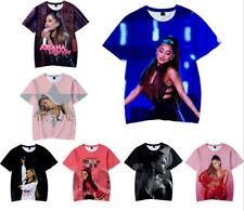Fashion 3D Ariana Grande Print Women/men Casual New T-Shirt Short Sleeve Tops