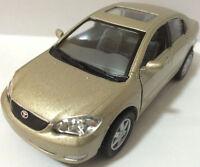"Kinsmart 1:36 scale Toyota Corolla diecast model car PULL BACK ACTION 5"" BEIGE"