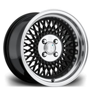 16x8 Klutch SL1 Alloys 5x100 Black Polished Lip