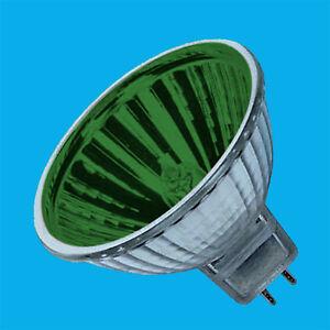 4x 50W Coloured MR16 12V Halogen Spot Light Bulb Lamps 13 Degree Beam, Reflector