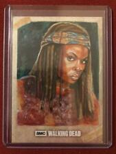 THE WALKING DEAD SKETCH CARD OF DANAI GURIRA AS MICHONNE BY MARCIA DYE