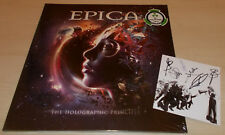 EPICA-THE HOLOGRAPHIC PRINCIPLE-2016 2xLP PINK/PURPLE VINYL-500 ONLY+SIGNED CARD