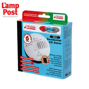 Kidde 4MCO Hard Wired Mains Powered 230v CO Carbon Monoxide Alarm
