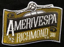 Embroidered Amerivespa 2018 Scooter Rally patch Richmond Va. VCOA Vespa NOS
