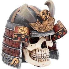 L'ULTIMO SAMURAI Teschio Testa ossa gotica Figura Ornamento Figurina Arte Regalo Decor